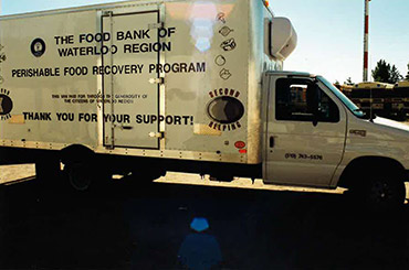 Food Bank food recovery program truck