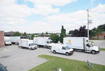 The Food Bank fleet of trucks