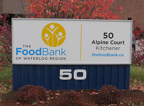 The Food Bank Exterior Sign