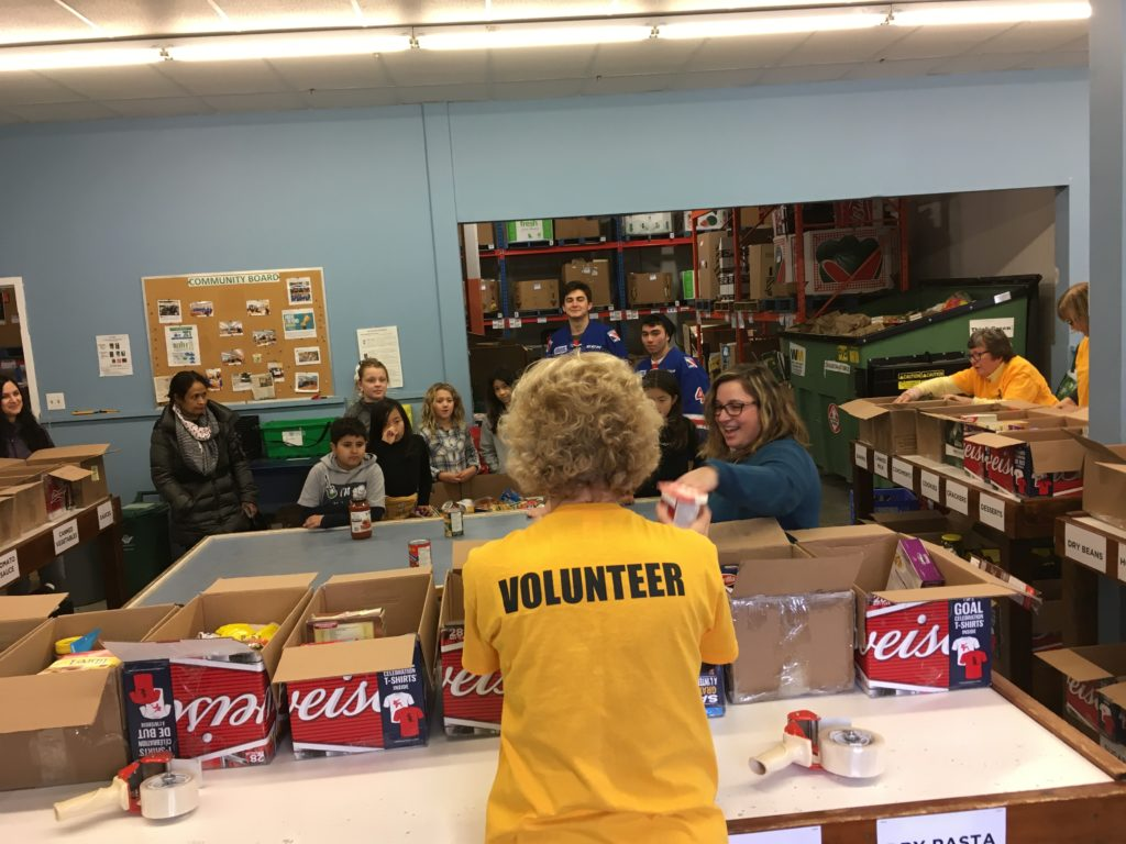 Volunteer introducing sorting