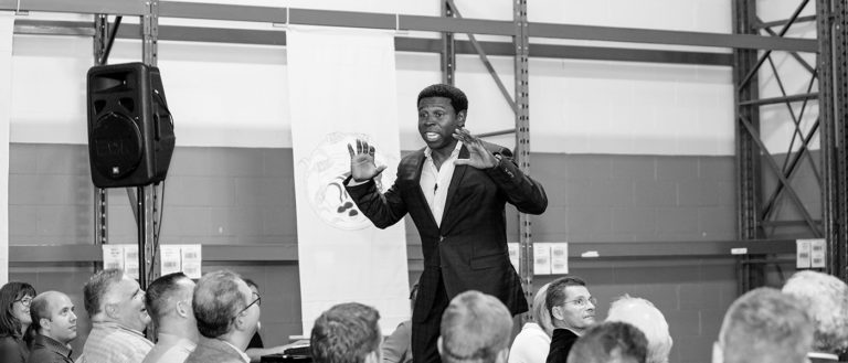 Waffles in the Warehouse 2018 speaker Michael 'Pinball' Clemons