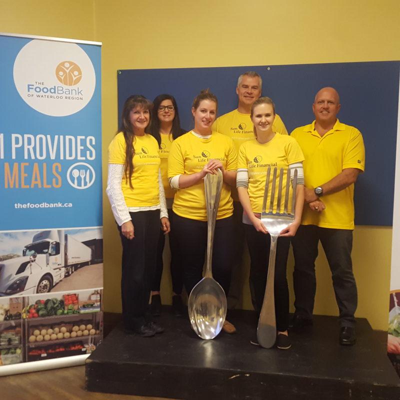 Great Food Sort Challenge 2018 Sunlife Financial Team