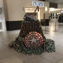 A structure made of cans of Thor's hammer