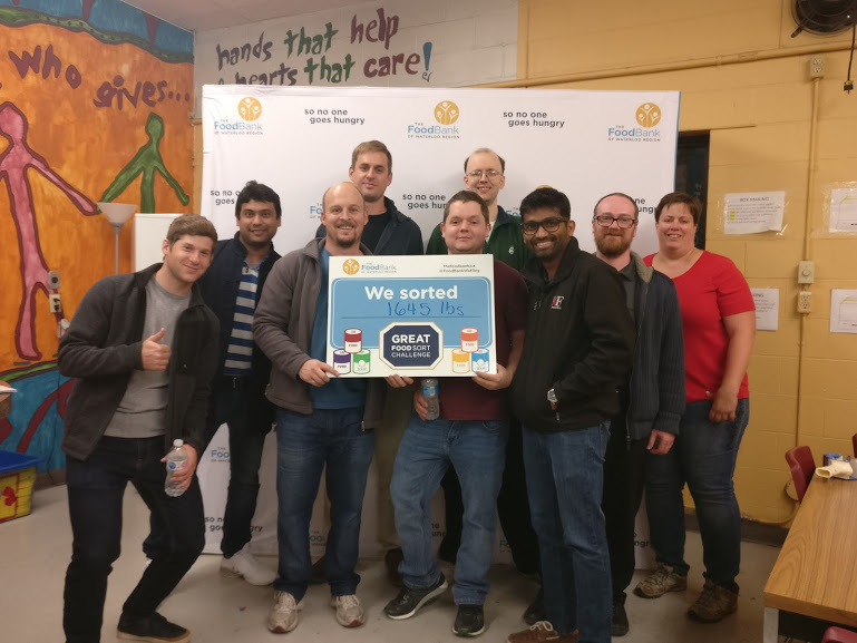 Great Food Sort Challenge 2018 Brock Solutions TL Electrical Team