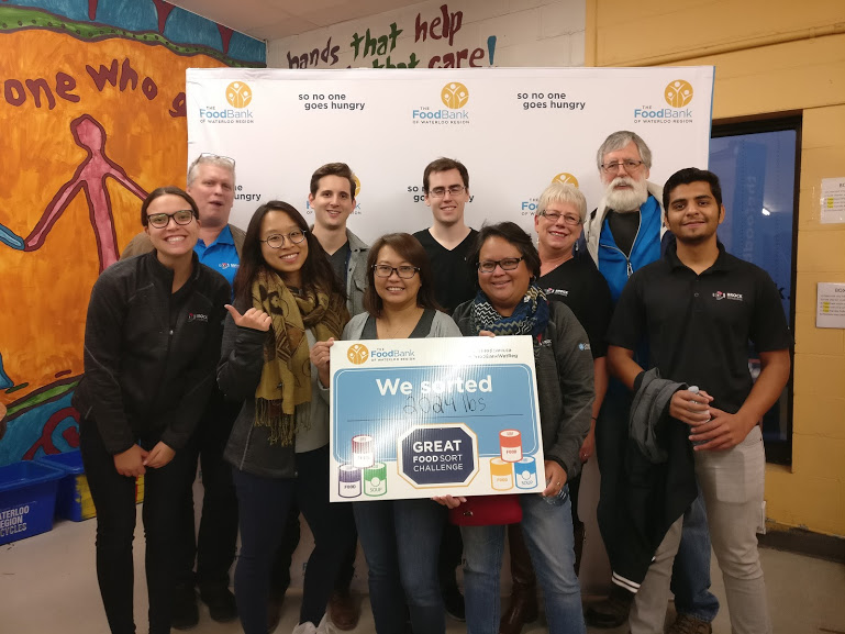 Great Food Sort Challenge 2018 Brock Solutions Corporate Team