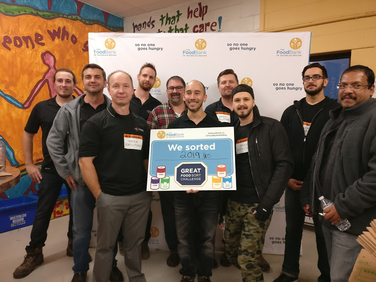 Great Food Sort Challenge 2018 Brock Solutions Panel Shop Team