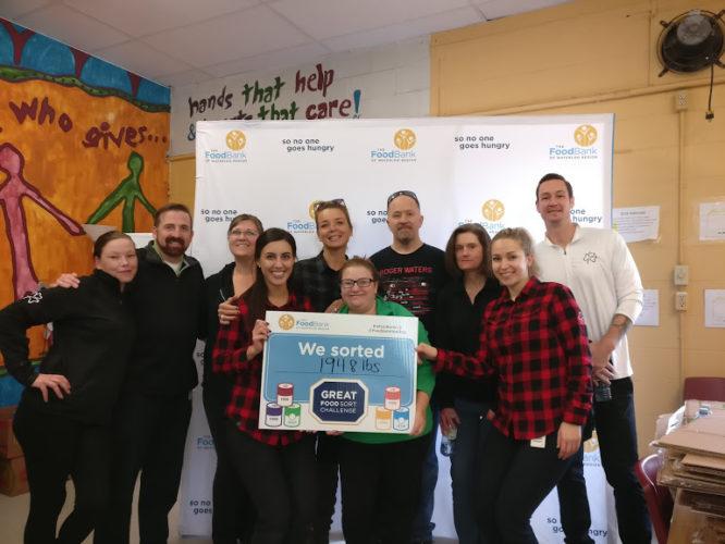 Great Food Sort Challenge 2018 Flanagan Foodservice Team