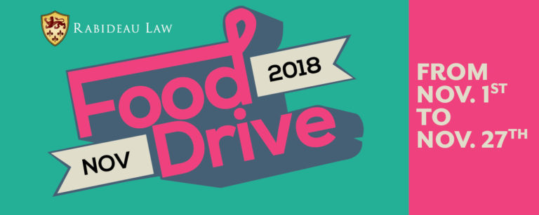 Rabideau Law Food Drive flyer