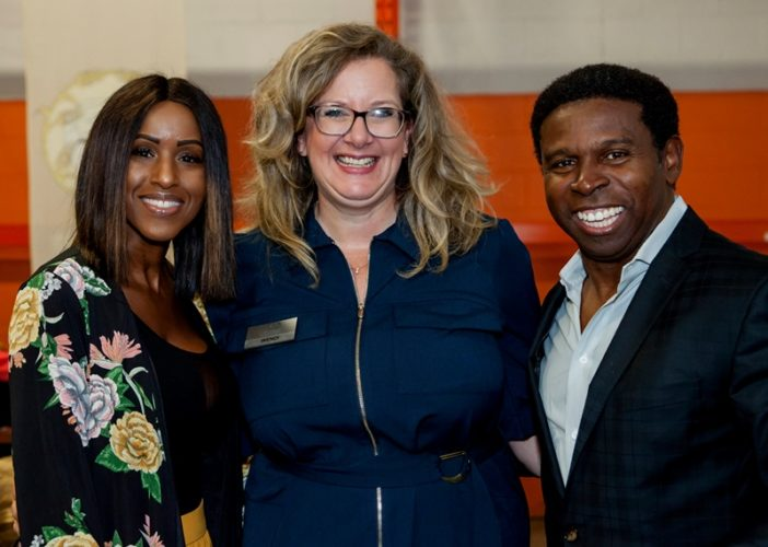 Wendi Campbell with Pinball and Diane Clemons
