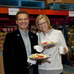 Sponsors enjoying Waffles in the Warehouse