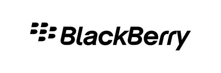 BlackBerry logo in black