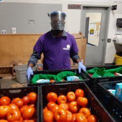 Image of Isaac Volunteering