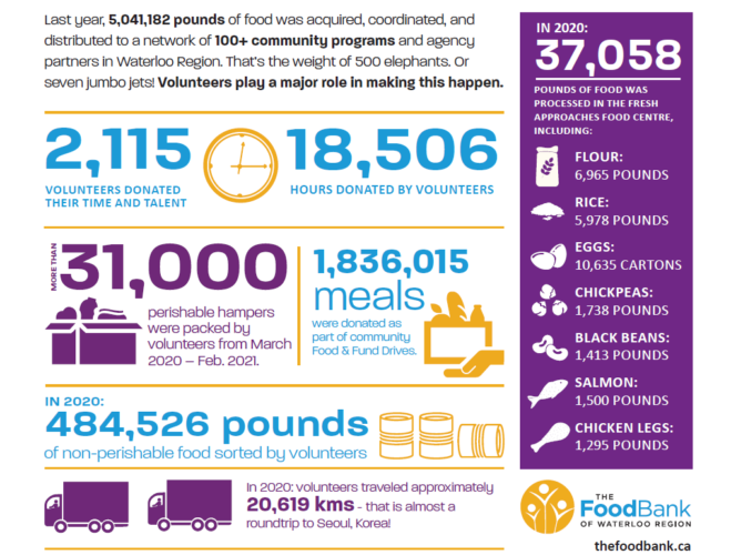 An infographic highlighting the impact of volunteers